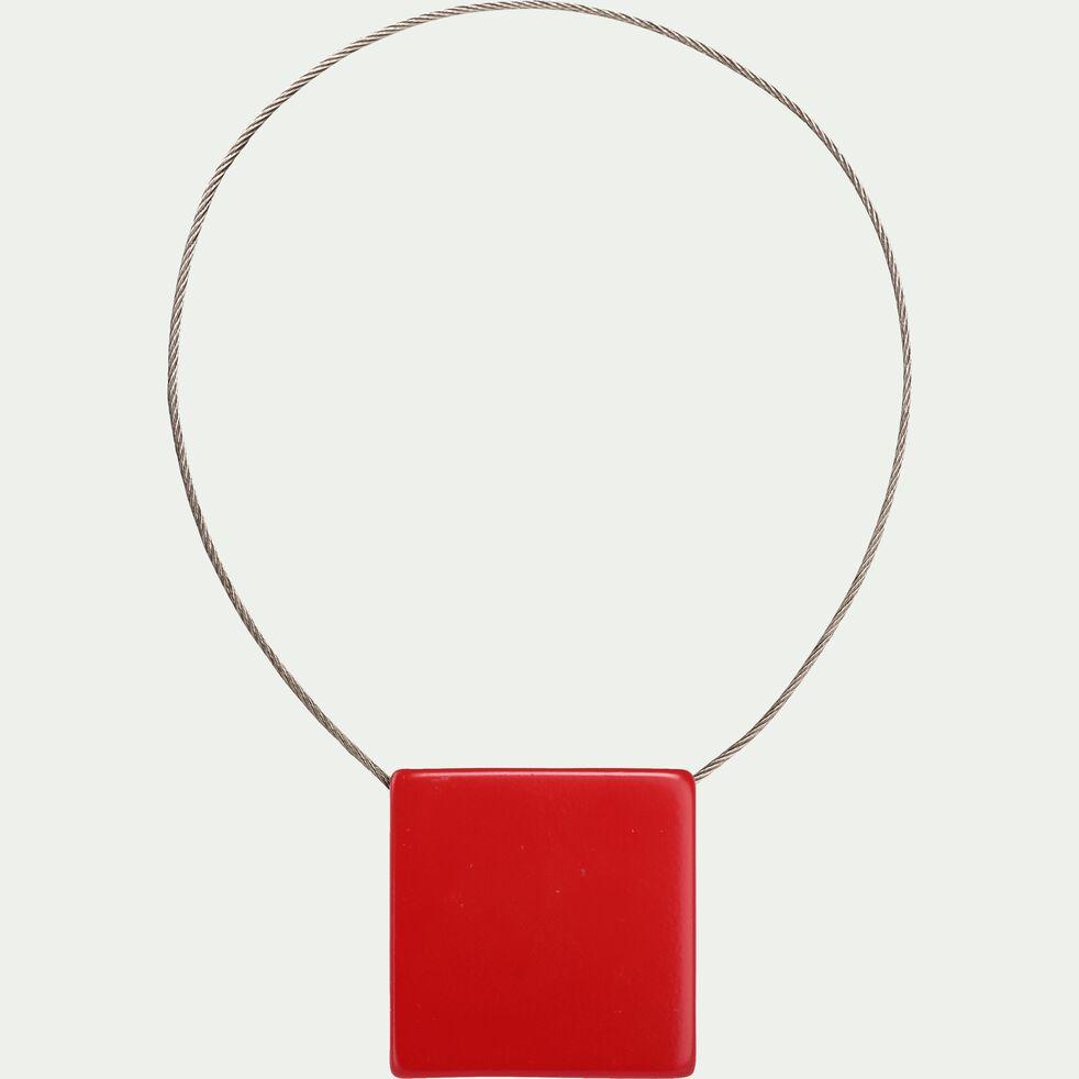 Embrasse magnétique carrée - rouge-CAMILLOU