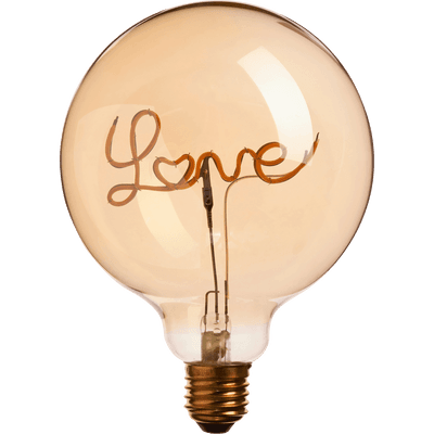 Ampoule décorative LED D12,5cm culot E27-LOVE