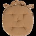 Galette de chaise ronde beige nèfle D40cm-CALANQUES