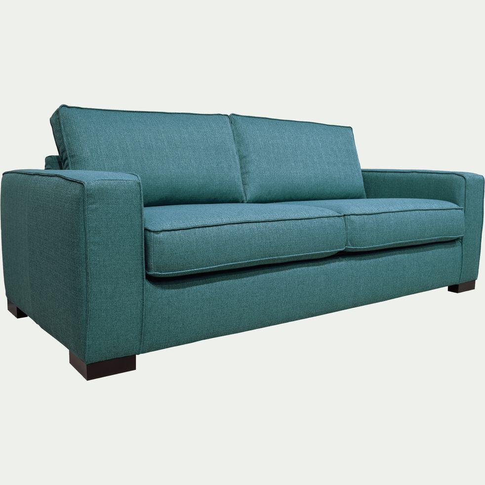 Canapé fixe 3 places pieds bas - bleu-CALIFORNIA
