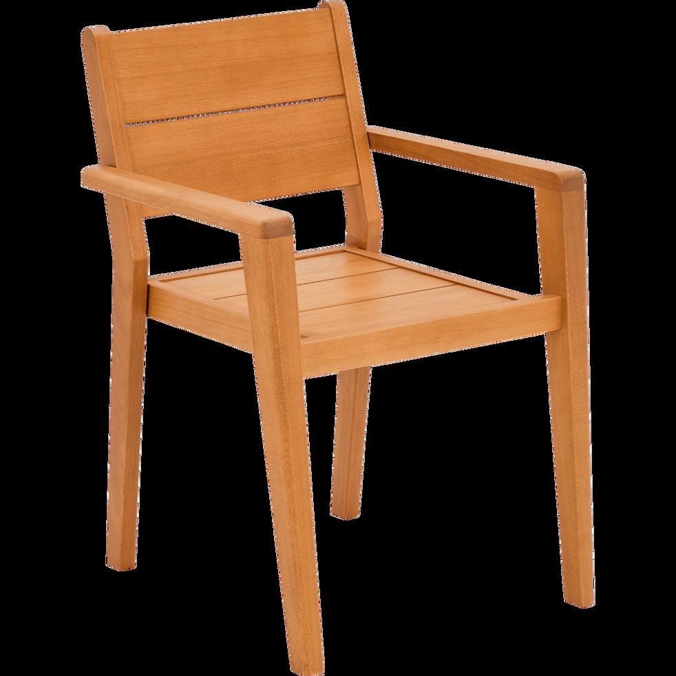 Fauteuil de jardin empilable en acacia degaby chaises de jardin alinea - Alinea fauteuil jardin ...