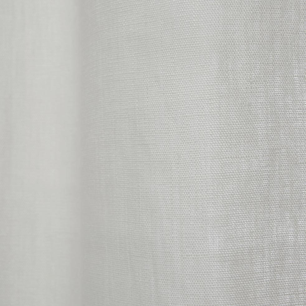 rideau en lin blanc ventoux 140x300cm vallon. Black Bedroom Furniture Sets. Home Design Ideas