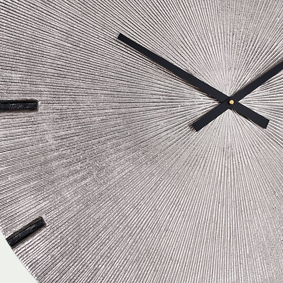 Horloge murale en aluminium - métallisé doré D58cm-ELEA
