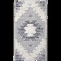 Tapis rectangulaire motifs et jeu de matières 60x110 cm-MADDIE