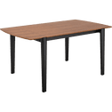 Table de repas plaquée noyer - 6 places-AGORA