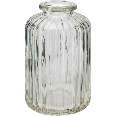 Vase en verre transparent H10 cm-Cios