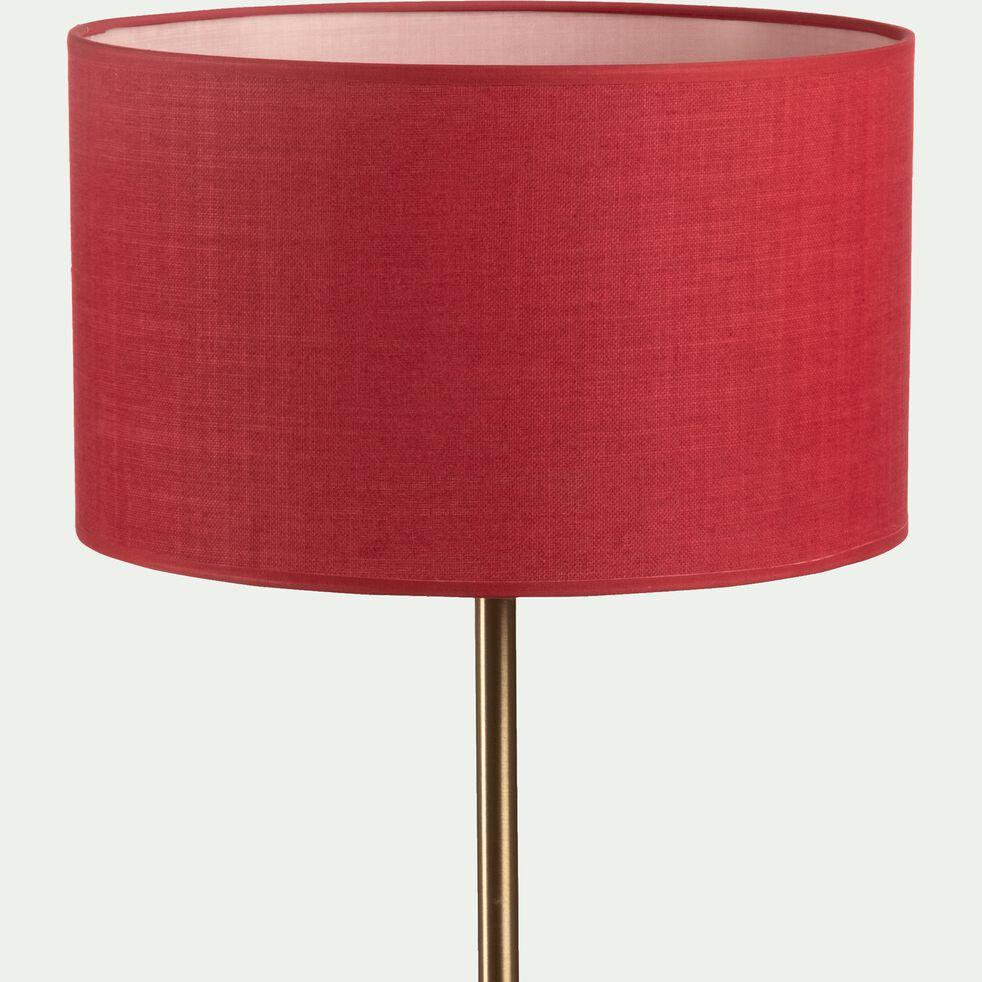 Abat-jour en tissu - D30cm rouge arbouse-MISTRAL