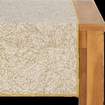 Chemin de table en lin et coton blanc 50x200cm-GINKO