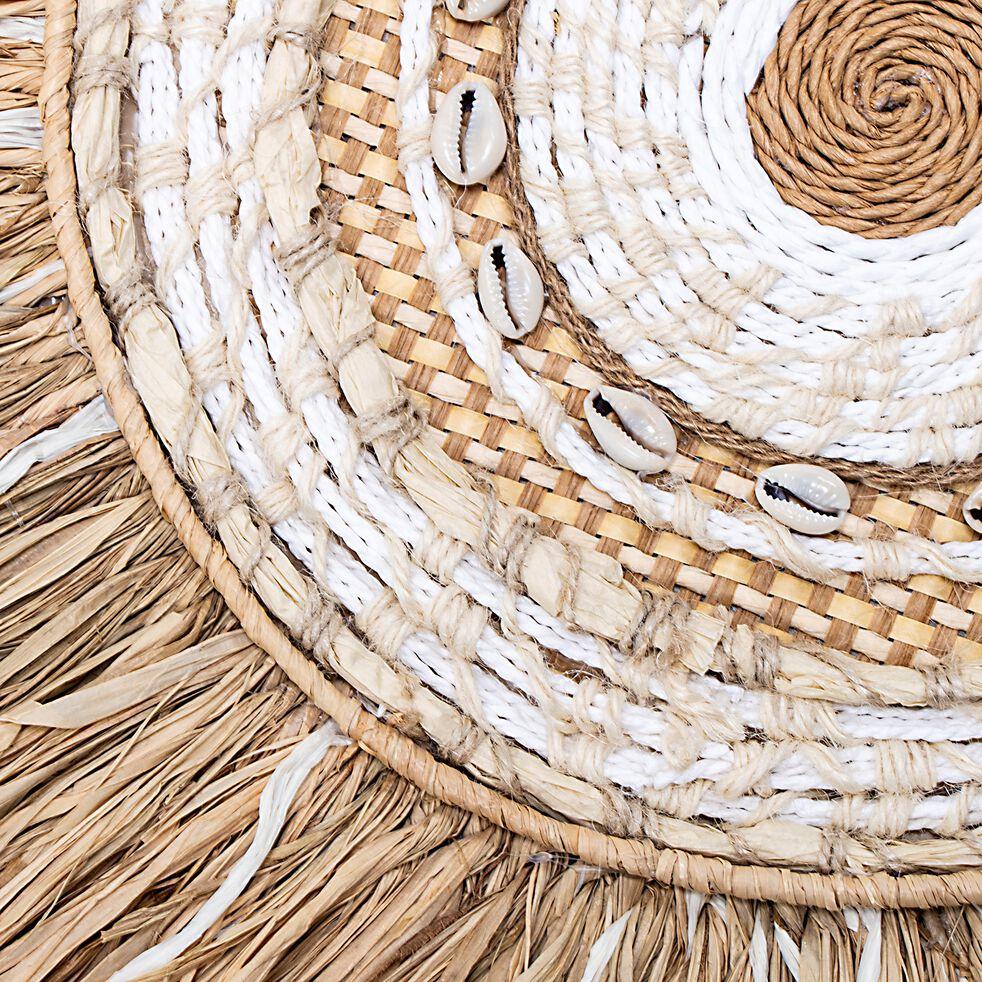 Décoration murale en polyester - naturel D62cm-GHANAA