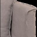 Méridienne droite en lin gris borie-VENCE