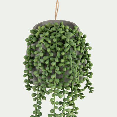 Plante artificielle pot ciment H65cm-SENECON