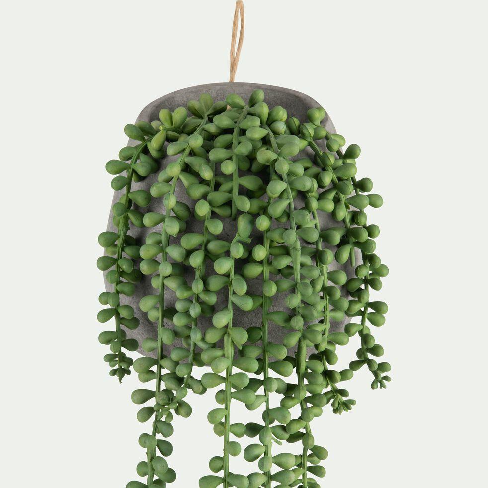 Plante artificielle tombante en pot - vert H65cm-SENECON