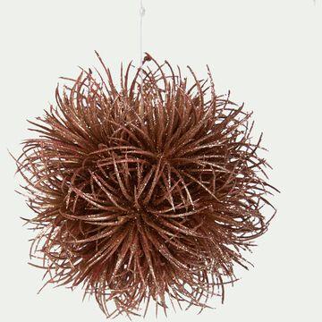 Boule en plastique marron D11,4cm-AISSA