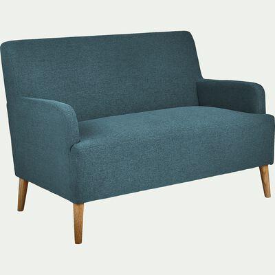 Canapé 2 places fixe en tissu - bleu figuerolles-NANS