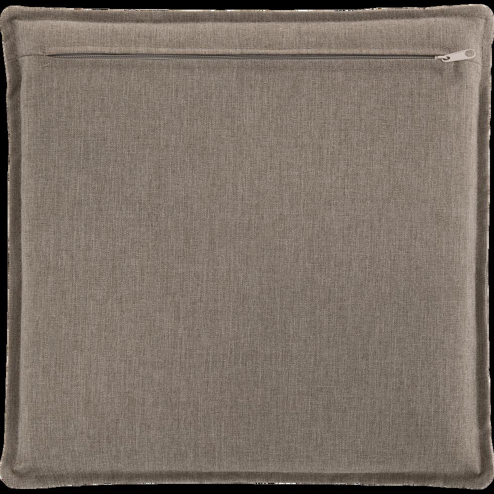 Coussin de chaise déperlante taupe 42x42cm-OPIO