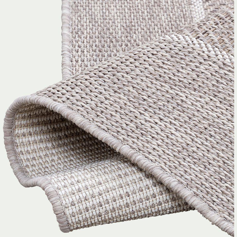 Tapis à lisière intérieur et extérieur - gris 200x290cm-basten