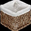 Panier de rangement en corde et tissu 17x17xh15.5cm-Honey