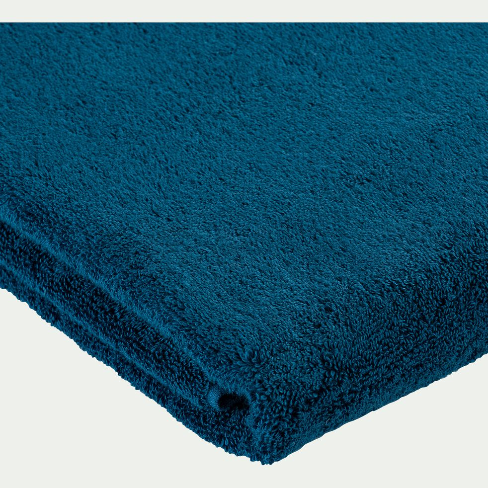 Lot de 2 serviettes invité en coton - bleu figuerolles 30x50cm-Rania