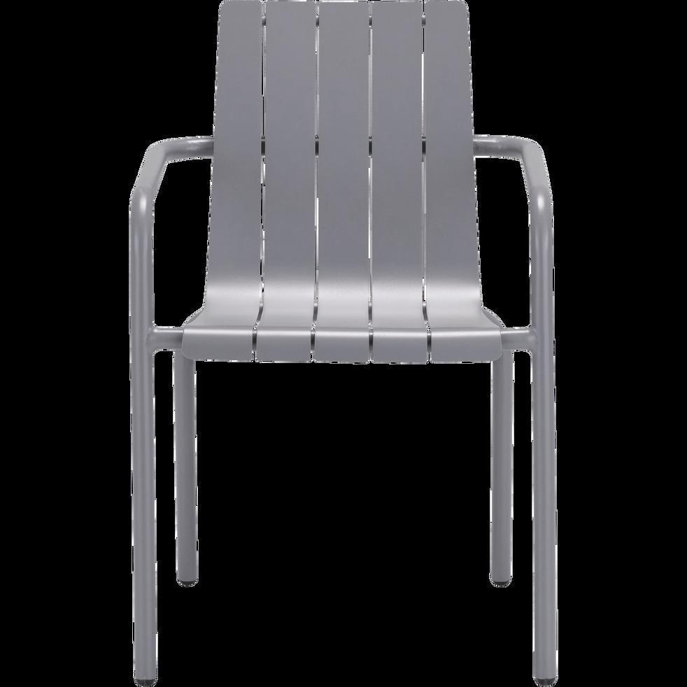 Chaise de jardin empilable en aluminium gris restanque cenoza chaises de jardin alinea - Alinea fauteuil jardin ...