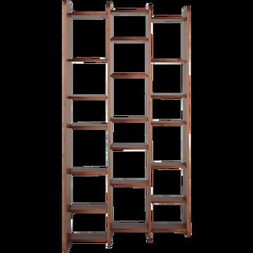 Étagère coloris noyer h187cm-PESCA