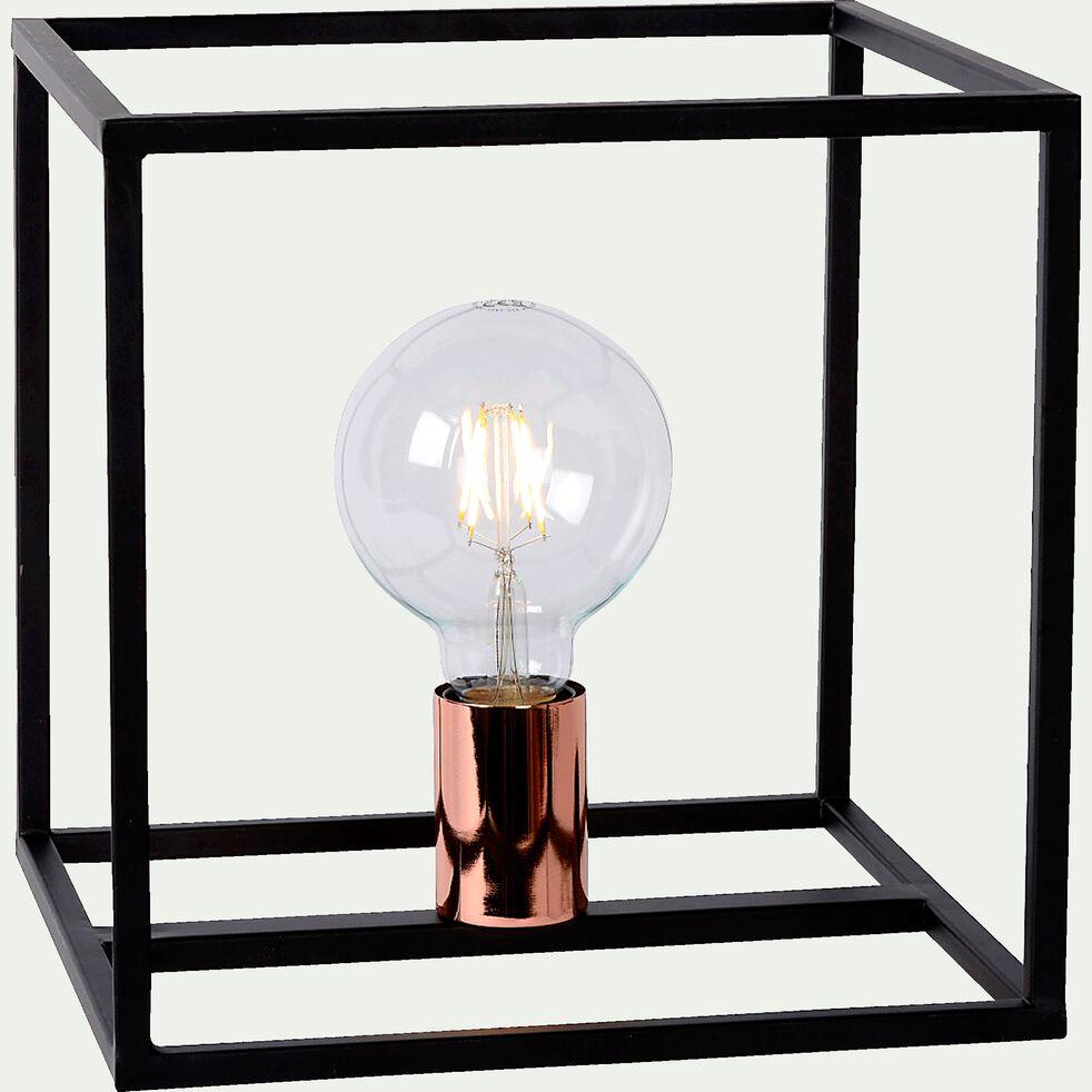 Lampe à poser géométrique en métal noir H25cm-ARTHUR
