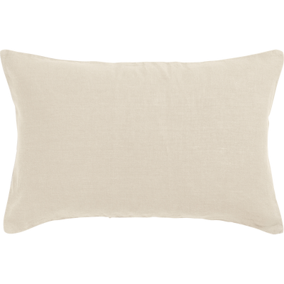 Coussin en lin lavé beige roucas 40x60cm-VENCE