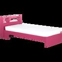 Lit 1 place rose réversible blanc - 90x200 cm-COOLER