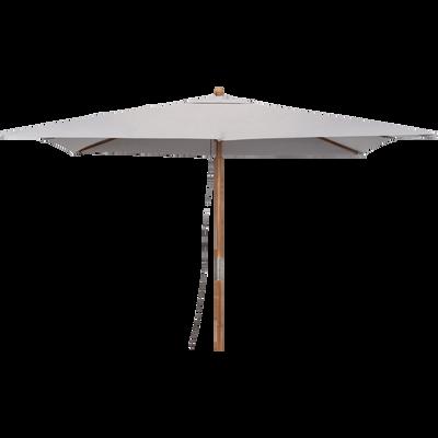 Parasol rectangulaire droit en eucalyptus 3x4m-VALLORIA