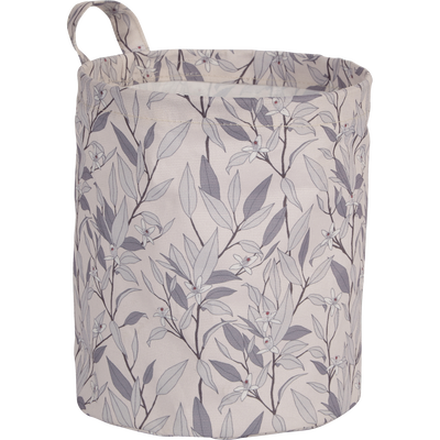 Panier de salle de bain en tissu motifs fleurs d'oranger ø22 cm-F.d'oranger