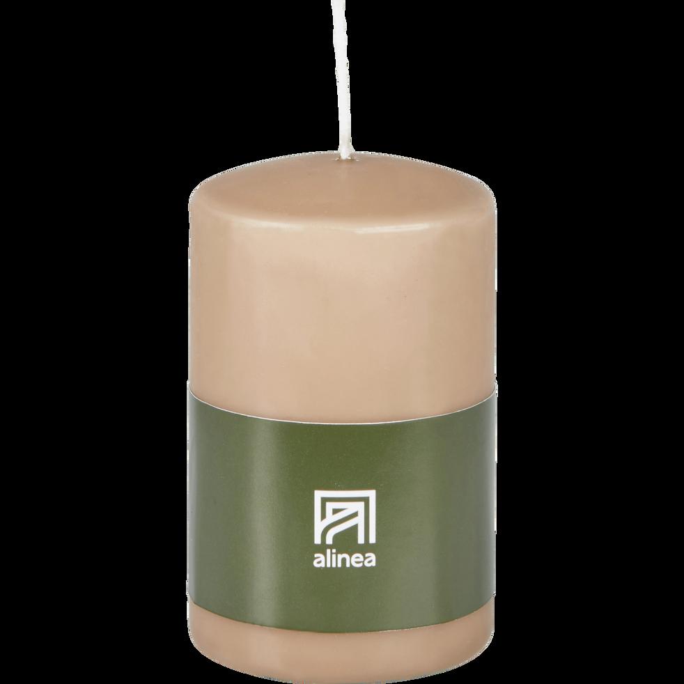 Bougie cylindre rose argile-HALBA
