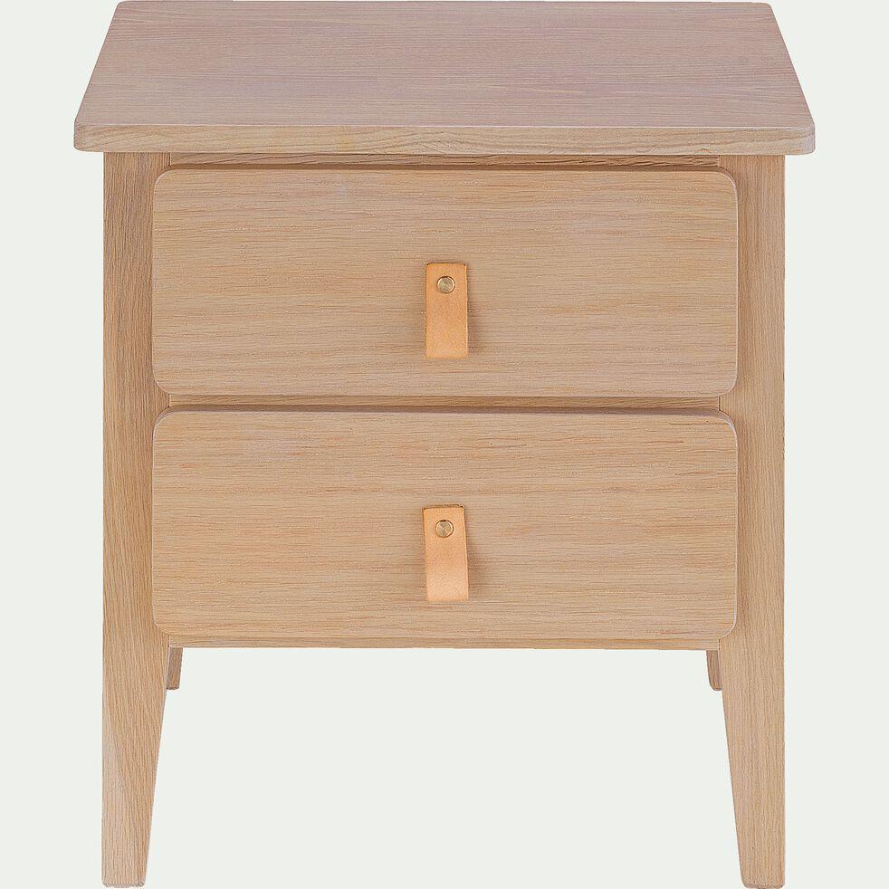 Table de chevet 2 tiroirs en bois-CONSTANCE