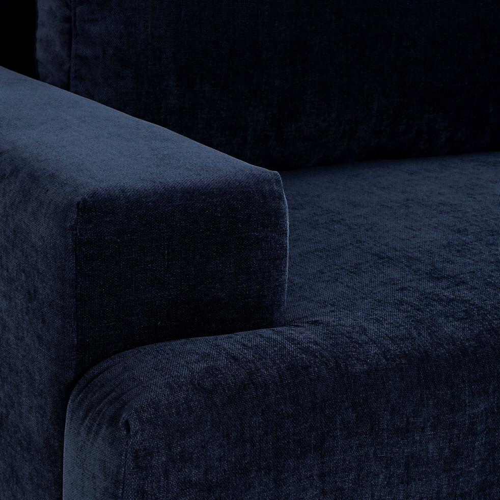 Canapé fixe 3 places en tissu - bleu-BORGO