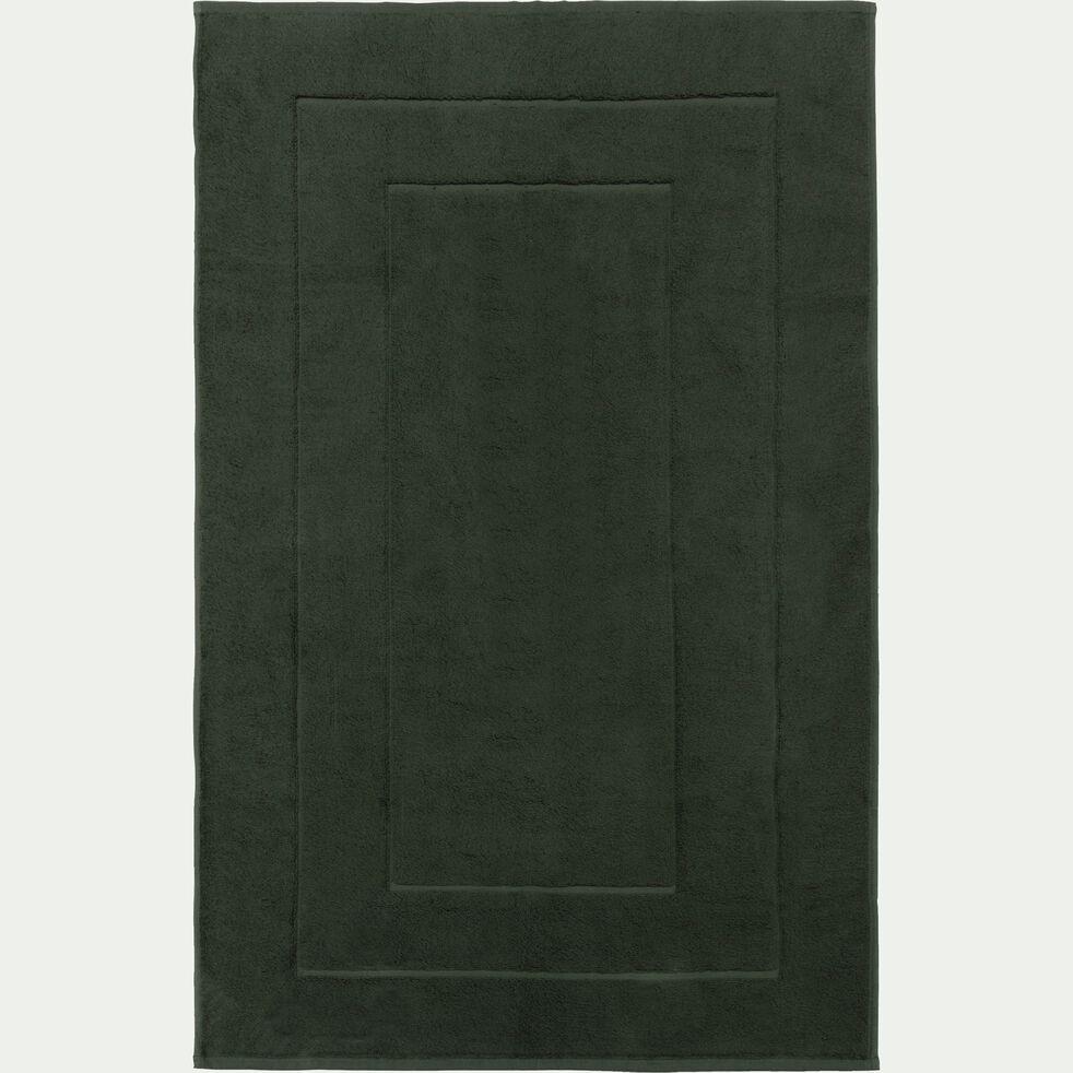 Tapis de bain en coton - vert cèdre 60x110cm-AZUR