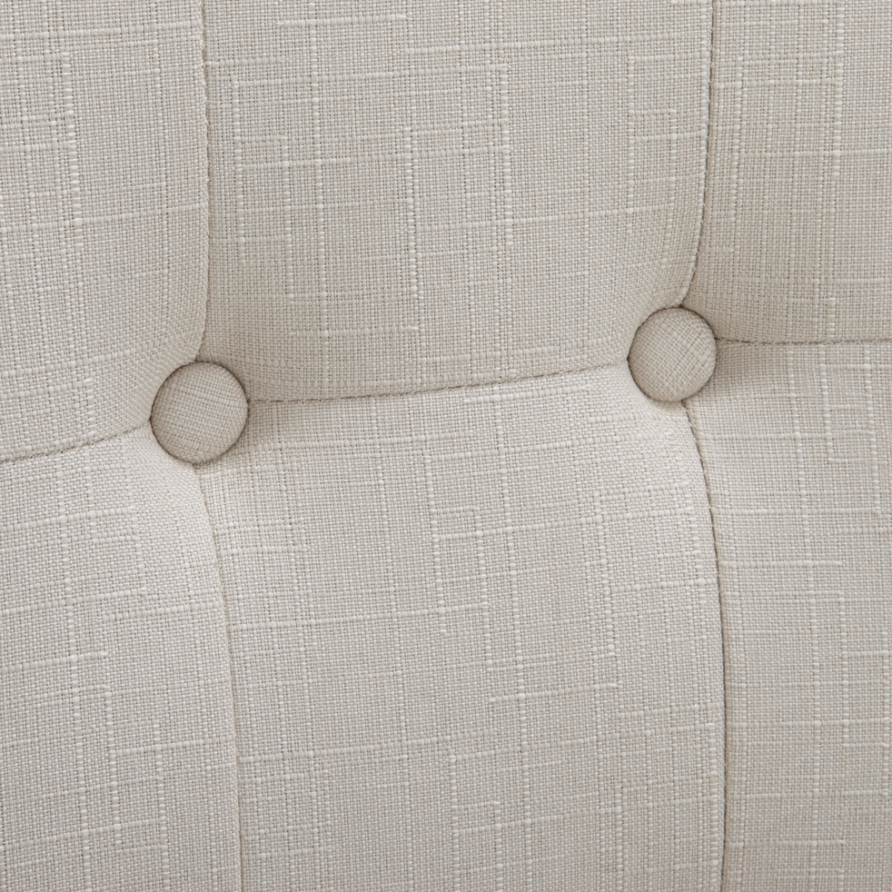 Chaise en tissu beige-DORIE