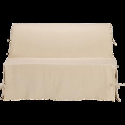 Housse de bz en coton et polyester beige roucas 70x140x60cm-PAULINE