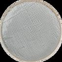 Porte savon gris clair en céramique-PREPPY