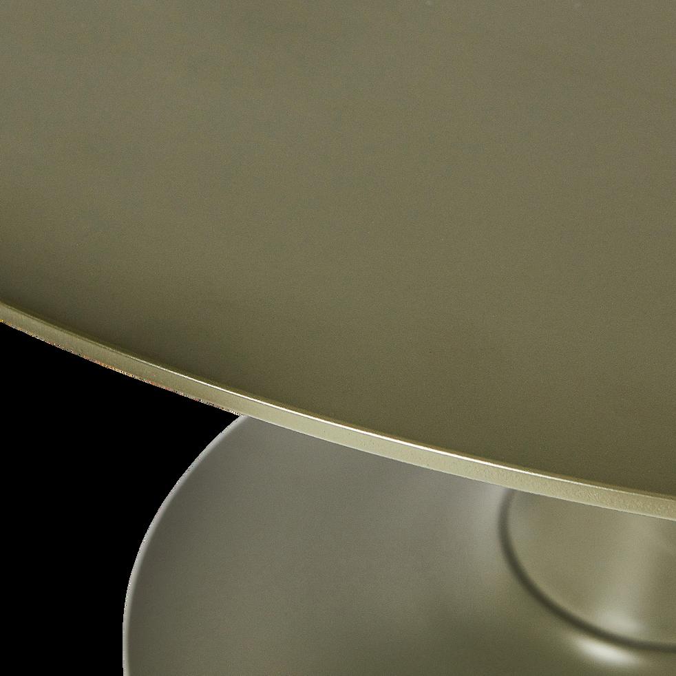 Table basse ronde vert cèdre avec pied tulipe-ACANTHE