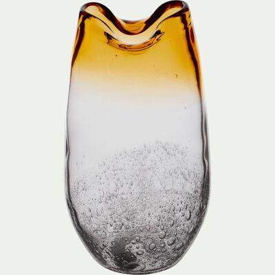 Vase en verre jaune H30 cm-TIBRE