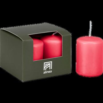4 bougies votives rouge arbouse-HALBA