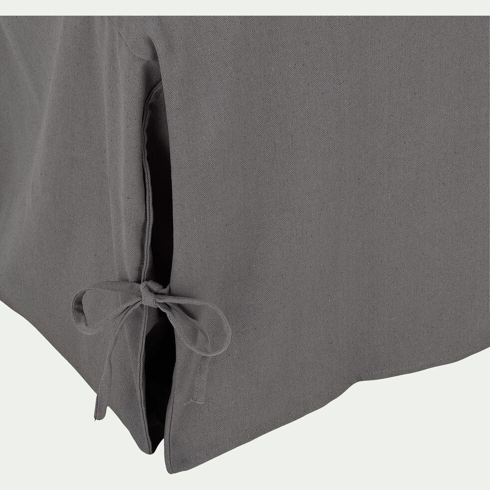 Housse pour BZ en polycoton - gris restanque L140cm-PAULINE