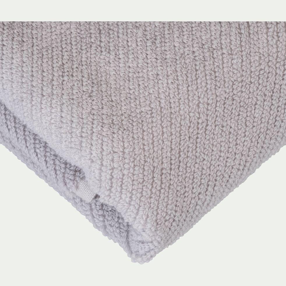 Serviette de bain bouclette en coton bio - gris borie 50x90cm-COLINE