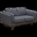 Canapé 2 places fixe en tissu gris restanque-ASTORIA