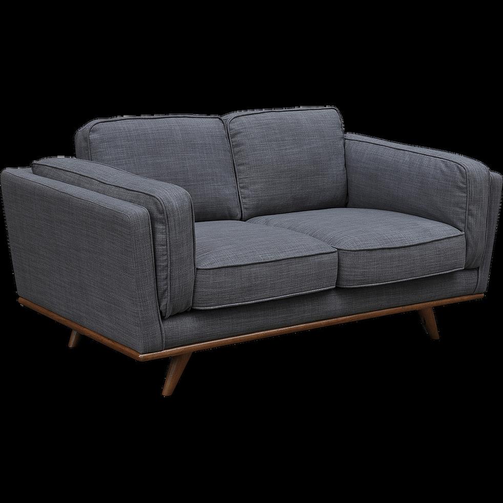 canap 2 places fixe en tissu gris restanque astoria. Black Bedroom Furniture Sets. Home Design Ideas
