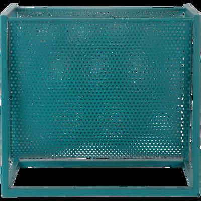 Porte-revue en métal bleu L40xl18xH36cm-MALA