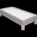 Sommier tapissier 80x200cm gris clair-REDON