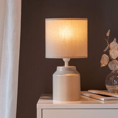 Lampe à poser en céramique beige H29cm-RODRIG