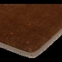 Descente de lit taupe imitation fourrure 60x120cm-RUBICO
