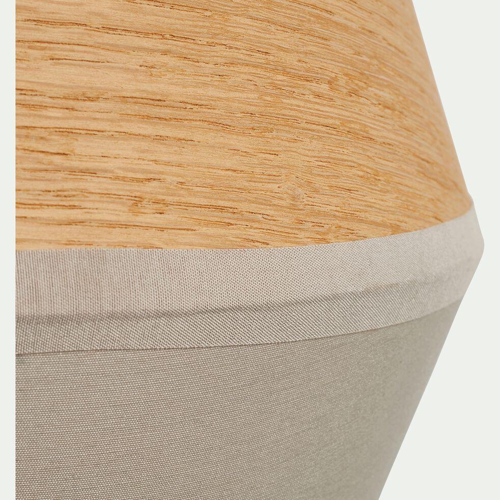 Applique murale en bois et tissu vert olivier 25x20x12cm-DOMUS