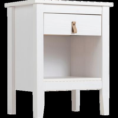 Chevet 1 tiroir blanc-LISON
