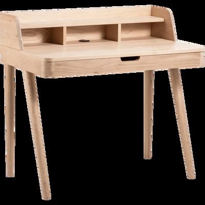 bureaux droit et bureau d 39 angle en bois pour la chambre salon alinea. Black Bedroom Furniture Sets. Home Design Ideas